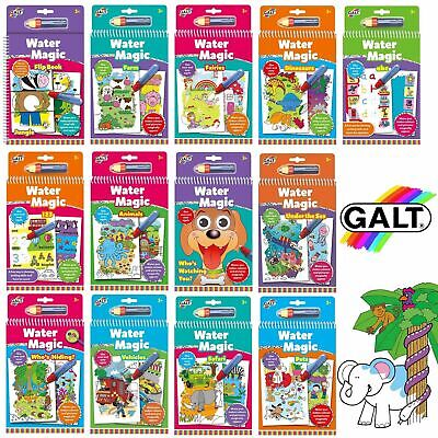 Galt Toys Water Magic Pads - Mess Free Colouring Books For Children - REUSABLE ! • 5.99£
