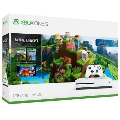 $229.99 • Buy Xbox One S 1tb Console - Minecraft Complete Adventure Bundle  NEW