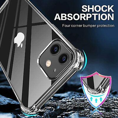 Case For IPhone XR XS MAX X 8 7 6 Plus Shockproof Silicone Transparent Cover • 3.69£