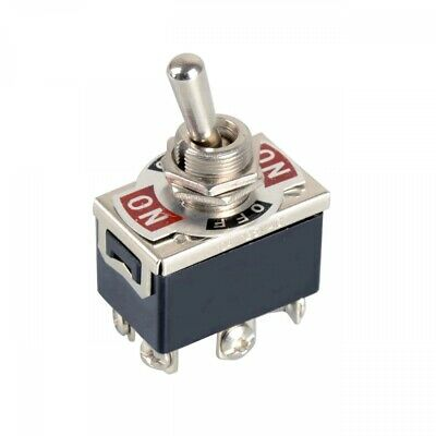 DPDT 6-Pin 3-Position Spring Momentary Metal Toggle Switch 240V/15A 120V/20A AC • 7.65$