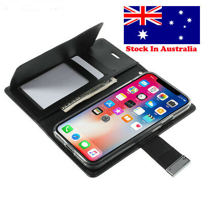 AU11.50 • Buy Iphone 5, SE, 6,  7, 8 7 Plus X, XS Max XR Wallet Case  With Card Holder Leather
