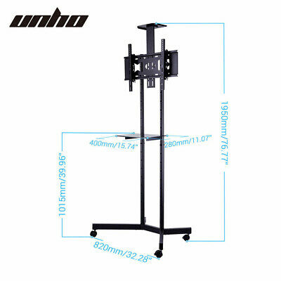 AU99.93 • Buy Portable Mobile Trolley TV Stand Support For 32 - 65  Screen Wheels Adjustable
