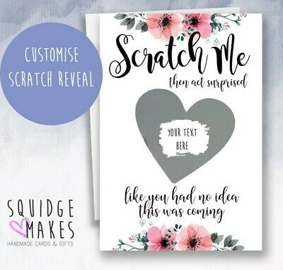 £3.70 • Buy Now Act Surprised* Scratch Off * Bridesmaid Proposal Heart Scratch Card Flower