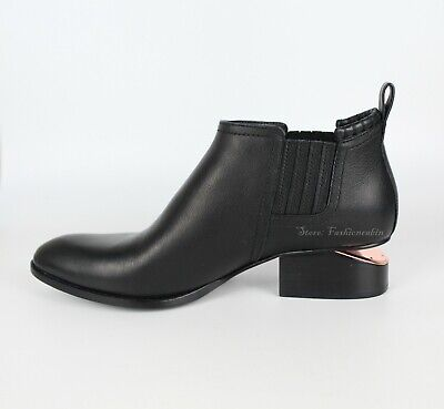 AU615.28 • Buy NEW ALEXANDER WANG Cut Out-Kori Heel Ankle Bootie Shoe, EUR 40, Black Leather