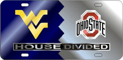 $ CDN36.22 • Buy WVU /  OHIO STATE HOUSE DIVIDED License Plate / Car Tag