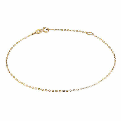 9ct Gold Hammered Trace Chain Bracelet 7 - 8 Inches • 30£