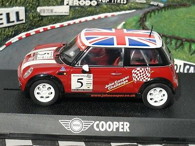 Scalextric mini Cooper 'john Cooper Challenge' #5  c2484 1:32 Slot New Old Stock • 34.99£