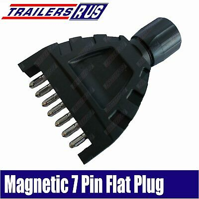 AU11.95 • Buy Magnetic Trailer 7 Pin Flat In-Line Plastic Plug With Magnet ADR Approved