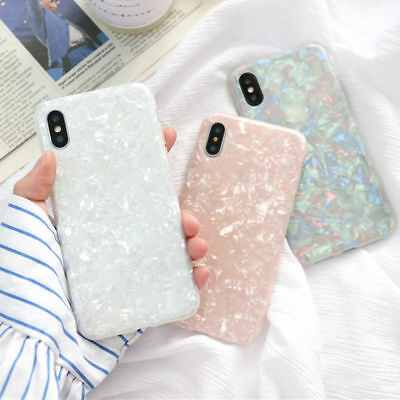 AU7.70 • Buy For IPhone 7 8 6s Plus X Luxury Marble Shockproof Silicone Protective Case Cover