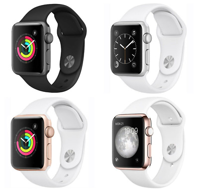 View Details Apple Watch Series 1 38mm Aluminum Case - Space Gray Silver Gold Rose Sport Band • 104.99$