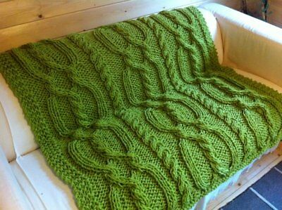 £2.69 • Buy Knitting Pattern- Snuggly Cable Blanket / Throw ~ Paper Copy