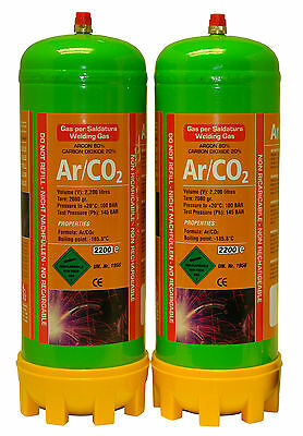 £55.92 • Buy Argon/Co2 2x 220ltr Gas Bottle For MIG Welding Disposable Cylinder