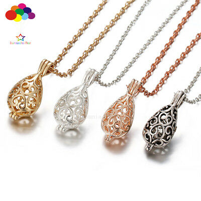 AU2.66 • Buy Diffuser Dripping Pattern Necklace Lockets Perfume Essential Oil Aromatherapy