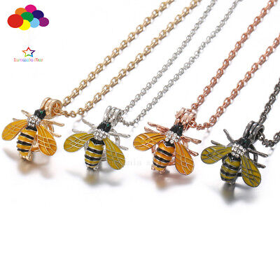 AU2.66 • Buy New Aroma Diffuser King Bee Necklace Lockets Perfume Essential Oil Aromatherapy