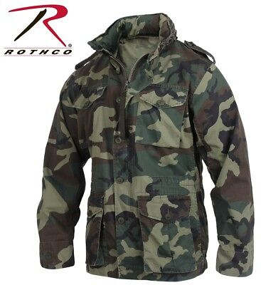 $79.99 • Buy Woodland Camo Vintage Lightweight Military M-65 Field Jacket Rothco 2851 2852