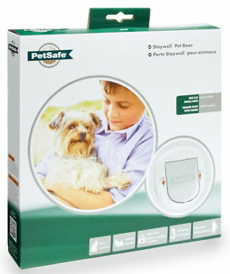 Staywell Deluxe Manual 4 Way Locking Cat Flap White • 22.50£