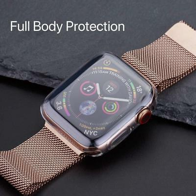 $ CDN9.32 • Buy Apple Watch Series 6/5/4 44mm Full 360° Clear Gel Silicone Case Cover Protector