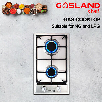 AU199 • Buy GASLAND Chef Gas Cooktop 2 Burners Stainless Steel Flame Failure Cast Iron 30CM