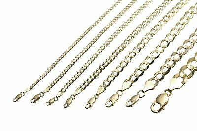$182.05 • Buy Gold Authentic 10k Solid Gold Men's Women Cuban Link Chain Necklace Sz 16 -30