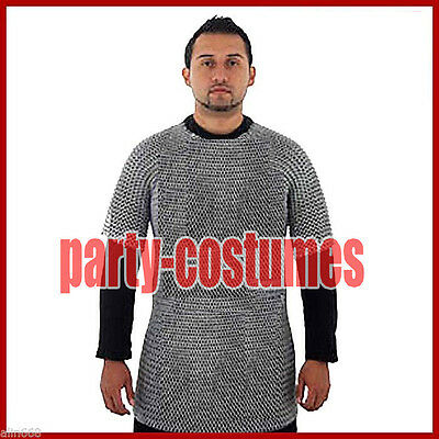 £24.30 • Buy Medieval Aluminium Chainmail Shirt Butted Chain Mail Armor For Role Play Theatre