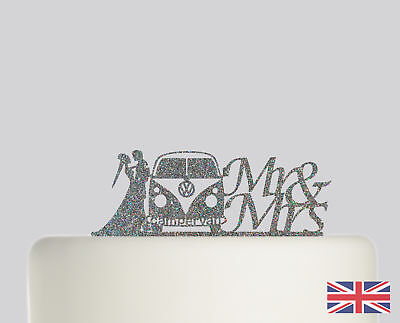 £12.99 • Buy Campervan Wedding Cake Topper Acrylic Glitter Cake Decoration.733