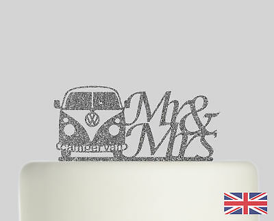 £12.99 • Buy Campervan Wedding Cake Topper Acrylic Glitter Cake Decoration.732