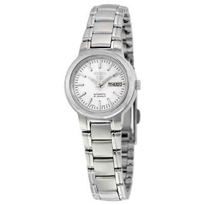 $ CDN99.10 • Buy Seiko 5 Automatic White Dial Stainless Steel Ladies Watch SYME39