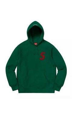 $ CDN275.33 • Buy Supreme S Logo Hooded Sweatshirt Sweater Hoodie Dark Green Size Medium Confi