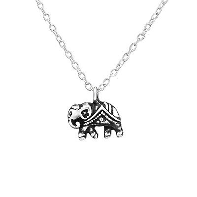 £8.97 • Buy 925 Sterling Silver Filigree Elephant Pendant Necklace (45cm / 18 ) Boxed