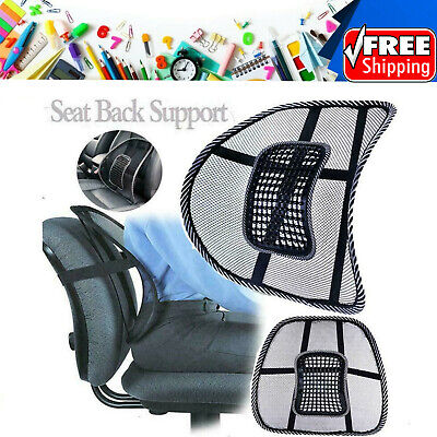 AU12.66 • Buy Mesh Lumbar Back Support Back Cushion Office Home Car Seat Chair Truck Pillow