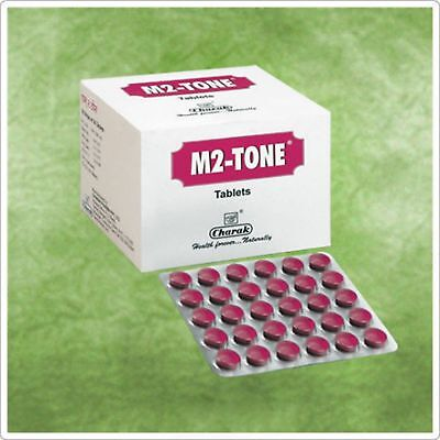 $18.99 • Buy 2 X M2 Tone Tablet For A Balanced Menstrual Period By Charak 120 Tab From India