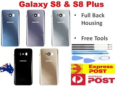 AU12.75 • Buy Samsung Galaxy S8 / S8 Plus Back Rear Glass Housing Battery Cover Case +TOOLS