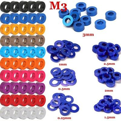$4.35 • Buy M3 X Thickness 0.25-3mm CNC Aluminum Flat Washers Gaskets For Screws Tool Kits