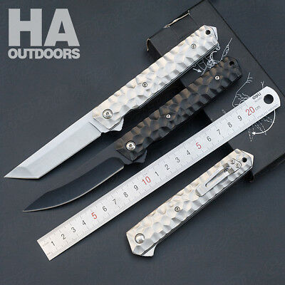 AU16.23 • Buy Folding Pocket Knife Outdoor Tool Camping Survival Hiking Hunting Gift X46