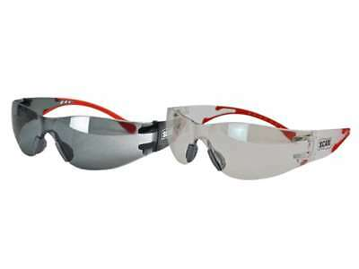 Scan Anti Fog Safety Glasses Twin Pack Smoke & Clear Lenses UV Scratch Resistant • 13.99£