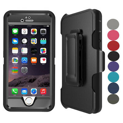 AU17.28 • Buy For Apple IPhone 7 8 Plus Case Built-in Screen Protector Fits Defender Belt Clip
