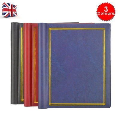 3X Large Self Adhesive Photo Album Total 60 Sheets 120 Sides Red &Blue & Black • 10.99£