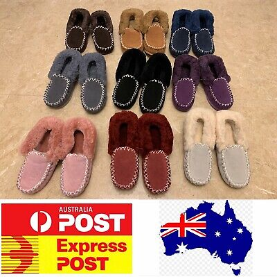 AU29.30 • Buy UGG Sheepskin Moccasin Slippers, 100% Sheepskins,comfy Warm For Winter, AU Stock