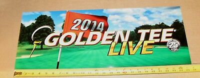 $4.75 • Buy Golden Tee Live 2014 Marquee Backlit Sign, Measures 26  Long X 9.5  Tall - NEW