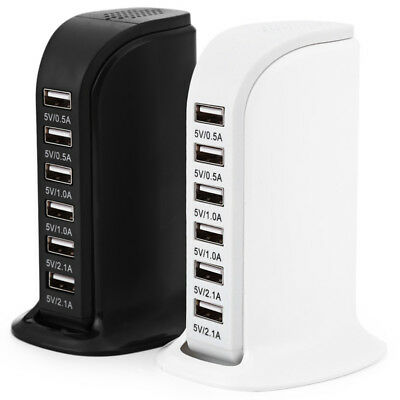 £10.45 • Buy 6Port FAST Multi USB Charger UK Plug Adapter 30W For IPhone IPad Samsung Tablets