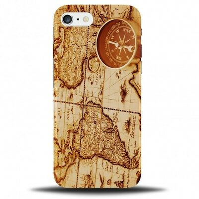 Vintage Old Fashioned Map Phone Case Cover | Compass World Explorer Gift B608 • 9.99£