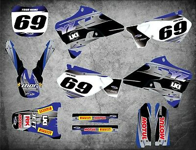 AU179.90 • Buy Custom Graphics Full Kit To Fit Yamaha YZ 125 / 1996 - 2001 STEEL STYLE Stickers