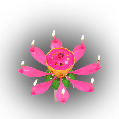 $ CDN5.18 • Buy 2018 Magic Party Birthday Candle Cake Topper Blossom Charming Lotus Flower Hot