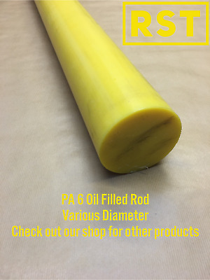 Oil Filled Nylon Rod Bar. Various Diameters Available. Engineering Plastic • 24.17£