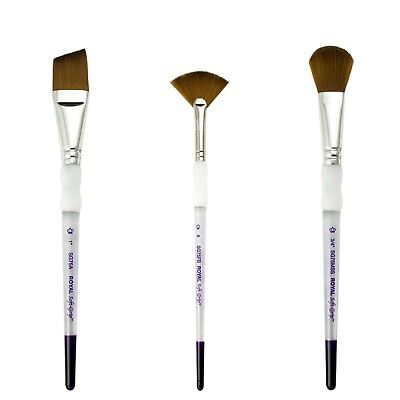 Royal & Langnickel Soft Grip Synthetic Sable Watercolour Paint Brushes • 3.25£