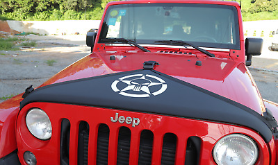 $27.99 • Buy For 2007-2017 Jeep Wrangler JK Accessories Front Hood Cover Protector Star Skull
