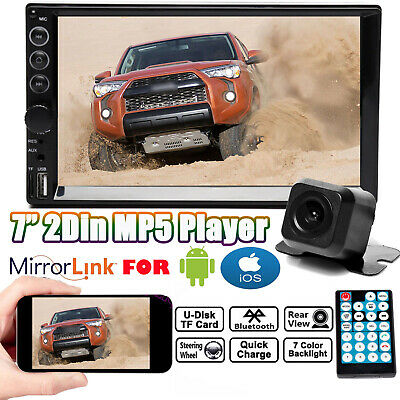 AU63.90 • Buy 7'' Double DIN Car Stereo Indash Head Unit Radio Camera Mirrors For Android Navi