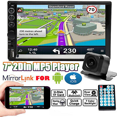 AU76.99 • Buy 7  Double 2DIN Car Stereo In-Dash HeadUnit Radio+Free Camera Mirror Link For GPS