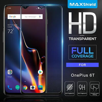 AU7.39 • Buy MaxShield Full Tempered Glass Screen Protector For OnePlus 7 Pro 6T 5T 3T 6 5 3