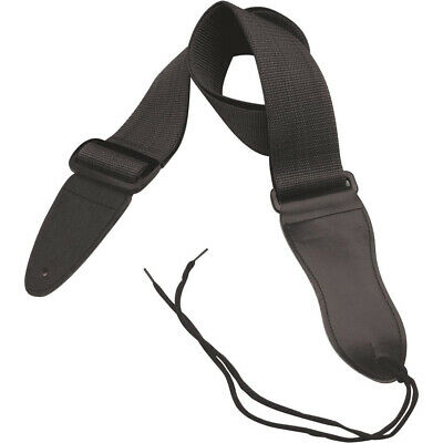 $ CDN7.72 • Buy On-Stage Adjustable  Guitar Strap With Leather Ends (Black)